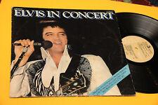ELVIS PRESLEY 2LP IN CONCERT ORIG ITALY 1977 EX+ GATEFOLD COVER