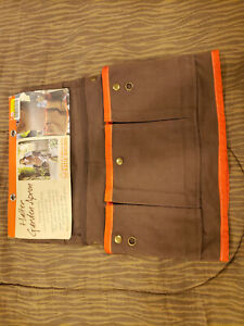 Katie Brown Halter Garden Apron Canvas NWT