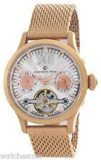 Constantin Weisz Mens Silver Dial Rose Gold Tone Steel Bracelet Watch 11Q128LCW