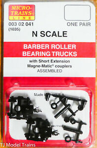 Micro-Trains Line #00302041 (1035) Barber Roller Bearing Trucks w/Short Ext. Cou