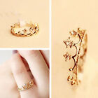 New Women Gold Plated Crystal Rhinestone Crown Ring Finger Fashion Jewelry Gift