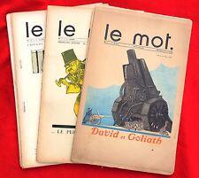 LE MOT collection des 1numéros 1 à 19. 1914-1915. IRIBE, COCTEAU, DUFY, BAKST...