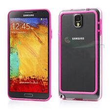BUMPER fucsia trasparente per Samsung Galaxy Note 3 N9005 cover custodia case