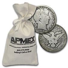 90% Silver Barber Half-Dollars - $100 Face Value Bag - 90 Percent Silver
