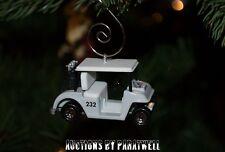 NEW Custom Ez Go Club Car Yamaha 1/64 Scale Golf Cart Christmas Ornament Gem PDS