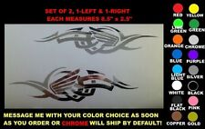 TRIBAL HONDA DECALS, SET OF 2, ANY COLOR, chrome goldwing shadow cbr tank