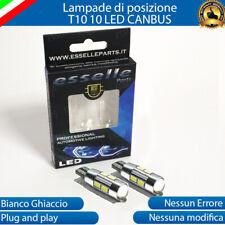 COPPIA LUCI POSIZIONE 10 LED PER FIAT BRAVO T10 W5W CANBUS NO AVARIA LUCI 6000K