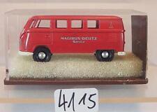 Brekina 1/87 Nr. 3105 Volkswagen Bulli VW T1a Bus Magirus-Deutz Service OVP#4115