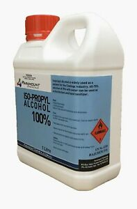 1 LTR  Isopropyl Alcohol Pure- Isopropanol Rubbing Alcohol 100% FREE Postage AU