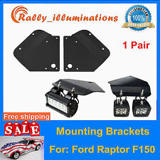 Bumper Holder Mount Brackets For Ford F150 Raptor install 4PC CREE 18W LED Light