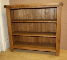 SOLID OAK SMALL WIDE BOOKCASE  100cm x 30cm x 90cm
