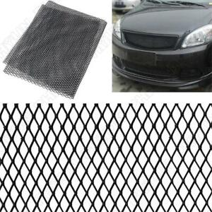 Universal Black Aluminium Racing Grille Mesh Vent Car Tuning Grill 100cm x 33cm