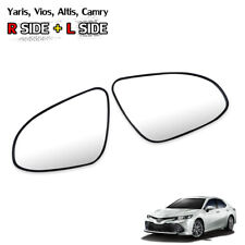 Pair Wing Side Door Mirror Glass Lens Fits Toyota Yaris Vios Altis Camry 2014 19