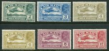 India KGV 1929 airmail wmk. to left 2a-12a SG 220w-225w hinged mint (cat. £67)