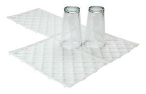"""20 x Interlocking Glass Mats Clear Plastic Pub Bar Liner Shelf Matting 8"""" x 12"""""""