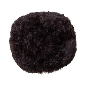 surell Faux Fur Dog Bed - Fuzzy Plush Luxury Pet Mat - Non Slip - Brown