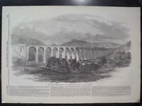The Dee Viaduct Shewsbury And Chester Railway 1848 Illustrated London News