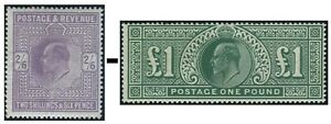 1911-1913 Somerset House Sg 315-Sg 320 Lightly Mounted Mint Single Stamps