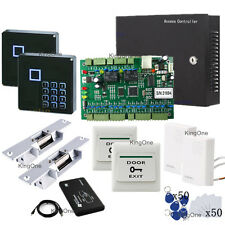 Two Door WG2002.Net Access Controller Strike Lock Security Control RFID Kits