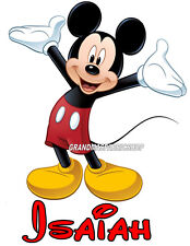 New Mickey Mouse Personalized T Shirt Party Favor Birthday Present Gift
