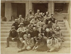 1862 battle-hardened officers British INDIA in civvies Kohat albumen PHOTOGRAPH
