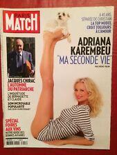 Paris Match 8/09/11 Adriana Karembeu - Jacques Chirac - Georges Michael