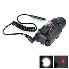 Red Dot Sight Light Scope for LED Flashlight Torch Rifle Hunting Mount Light Gun