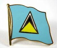 St. Lucia Flaggen Pin Anstecker,1,5 cm,Neu mit Druckverschluss