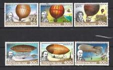 Ballons et Dirigeables Centrafrique (39) série complète de 6 timbres oblitérés