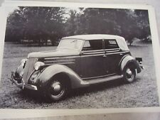 1936 FORD CONVERTIBLE SEDAN TOP UP   12 X 18 LARGE PICTURE   PHOTO