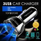 Fast Car Charger 3 Usb Port For Iphone Samsung Huawei Universal Socket Adapter