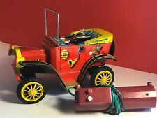 WILLY THE WALKING CAR 1950 JAPAN BATTERY OPERATED TOY REMOTE CONTROL TIN LITHO