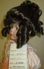 Brunette Gibson Girl Dollspart wig, size 11 for lady dolls