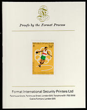 Maldives (489) 1976 Discus imperf on Format International PROOF  CARD