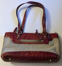Collectible Brahmin Pecan Brown Crocodile Leather/Mesh Shoulder Women's Bag