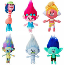 6PCS Set The Good Luck Trolls Plush Toy Poppy Branch Dream Works Stuffed Dolls