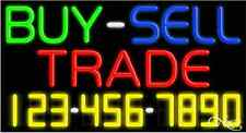 """NEW """"BUY-SELL TRADE"""" W/YOUR PHONE NUMBER 37x20 NEON SIGN W/CUSTOM OPTIONS 15053"""