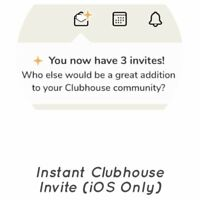 Instant Clubhouse App Invite Via SMS (iOS iPhone Only)