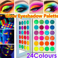 24 Farben Lidschatten Palette Set Makeup Set Kosmetik Glow in the Dark Leuchtend