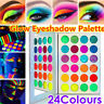 24 Farben Lidschatten Palette Set Makeup Set Kosmetik Glow in the Dark Leuch DE