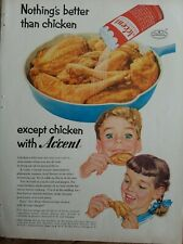 1956 accent food spice flavoring nothing's better then Fried Chicken vintage ad