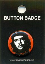 Che Guevara Red 25mm Button Badge Pin Official Carded