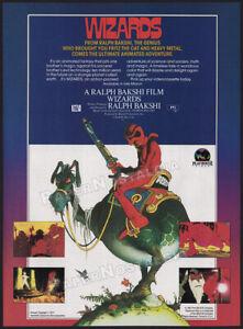 WIZARDS__Orig. 1987 Trade Print AD / ADVERTISEMENT__Ralph Bakshi__William StoutA