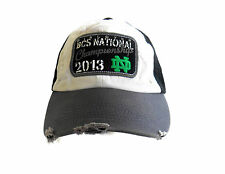 NOTRE DAME Basball Hat Cap BCS 2013 NATIONAL FOOTBALL CHAMPIONSHIP DistressedNEW