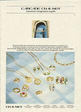 Publicité 1981  CHAUMET  L'arcade  bijoux bague collier bracelet collection