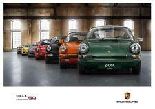 A3 PORSCHE 911 50 YEARS ANNIVERSARY EVOLUTION POSTER BROCHURE ART PRINT PICTURE!