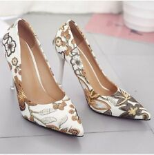 Ladies Floral Printed High Heels