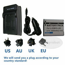 Battery+charger For Olympus Tough TG-620 TG-630 TG-810 TG-820 TG-830 LI-50B