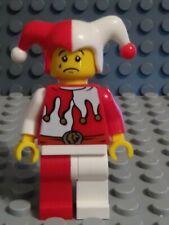 LEGO Minifigure   COURT JESTER   2 Sided Face -  Castle - Kingdoms - 7953