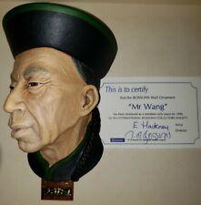 "Vintage Very Rare Bossons ""Mr. Wang "" Chalkware Character Head Mask"